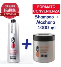 KIT Shampo + Maschera Echosline 1000 ml cad. a scelta