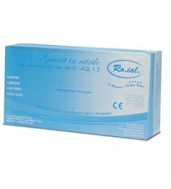 Guantes de vinilo - RO.IAL - Paquete de 100 piezas. - Medir el