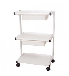 Aesthetic cart with two drawers supplied