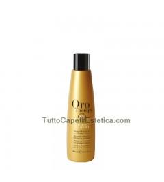 Shampoo per capelli orotherapy 24k a base di olio argan oro puro 250 ml Fanola
