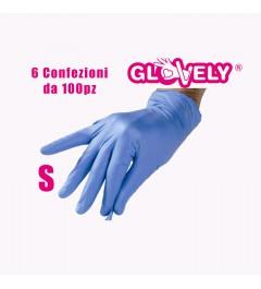 Guanti in nitrile - Misura S - 6 confezioni da 100pz Glovely