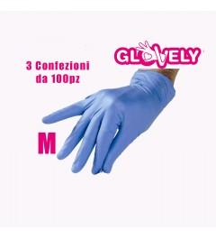 Guanti in nitrile - Misura S - 3 confezioni da 100pz Glovely