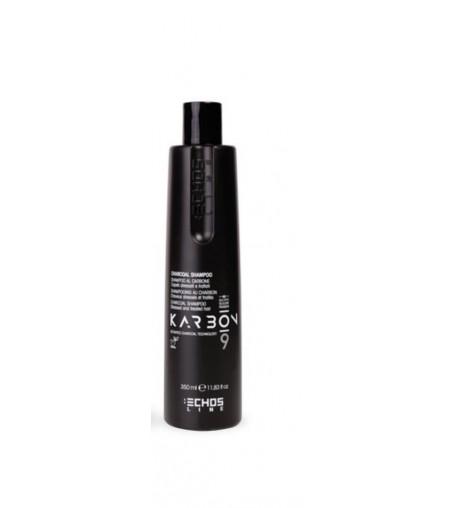 Shampoo al carbone per capelli stressati e trattati 350 ml Karbon 9 Echosline