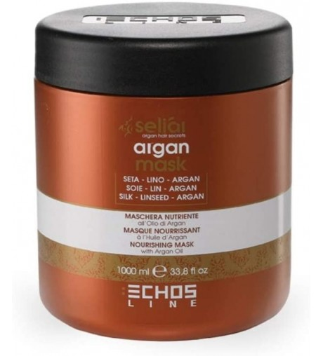 Maschera per Capelli professionale seliar Echos line nutriente all'olio di Argan 1000 ml