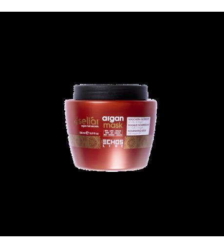 Maschera per capelli professionale seliar Echosline nutriente all'olio di Argan 500 ml