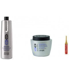 KIT ANTIGIALLO Shampoo S6 1000 ml + Maschera M6 500ml Echosline + in OMAGGIO fiala STRUTTURA