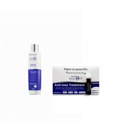 Shampoo anticaduta 250ml +Fiale anticaduta 12x10ml Retrò specifc